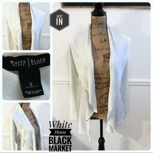 White House Black Market Ivory Open Front Cardigan